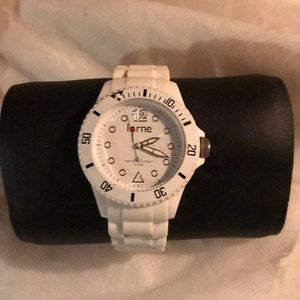 White Lomé watch